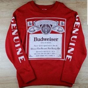Junk Food Budweiser Genuine Knit Sweater Sz XL